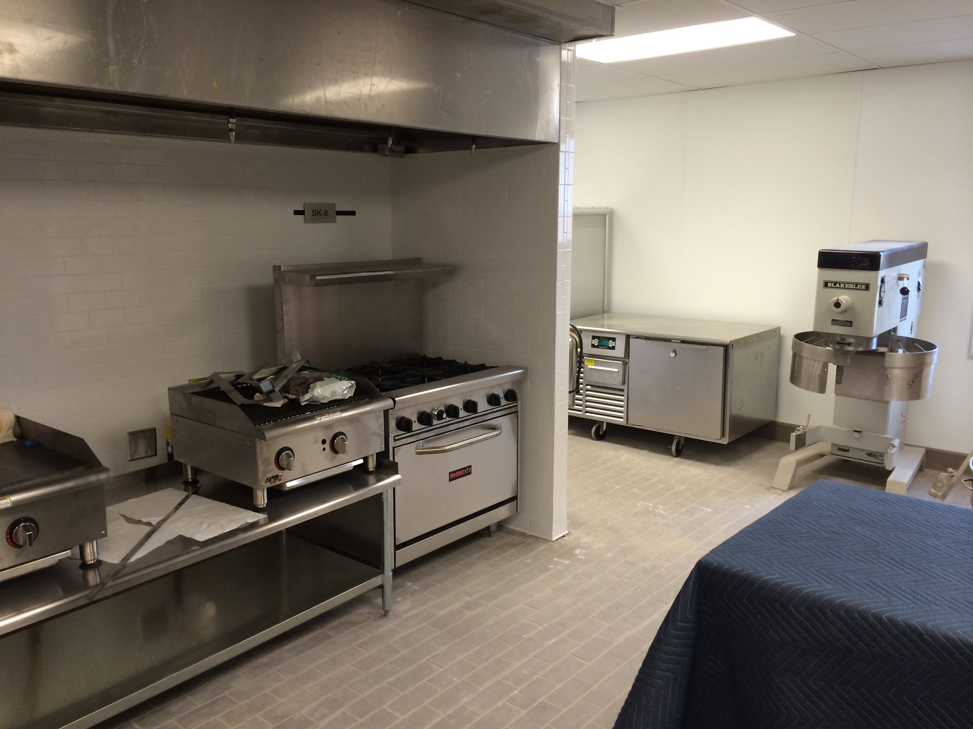 Fully equipped in a shared kitchen environment